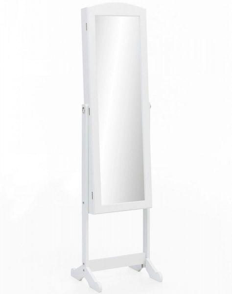 WOHNLING Standspiegel Weiß Holz 41 x 160 x 38 cm | Flur & Diele > Spiegel > Standspiegel | Weiß - Creme | Mdf | Wohnling