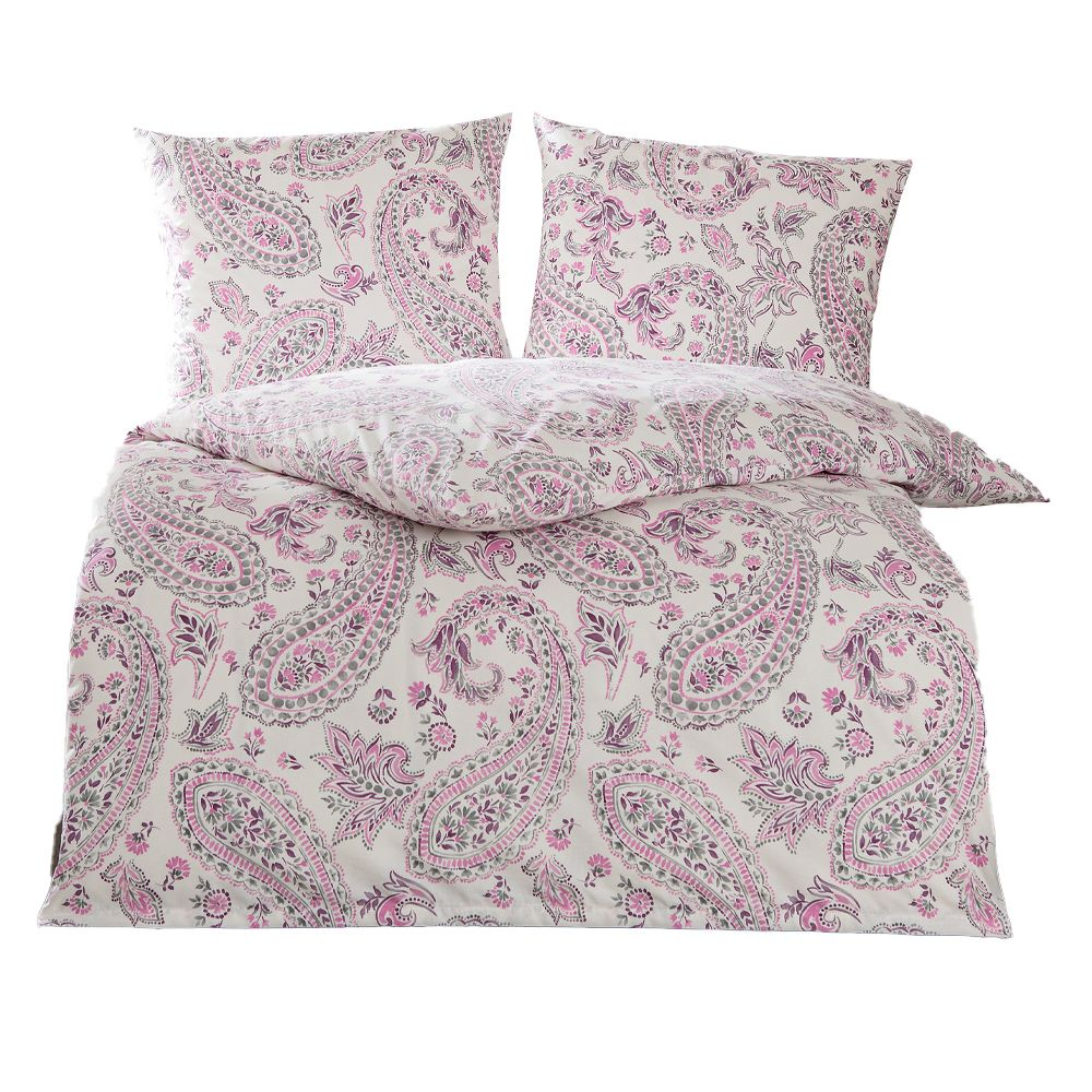 Unbekannt Leander Bettw/äsche Kinderbettw/äsche Flora 100x135 cm Original von Leander Soft pink