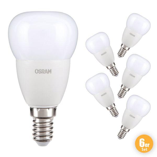 "Osram LED Leuchtmittel ""Tropfen"", 5 W, E14 - 6er Set"