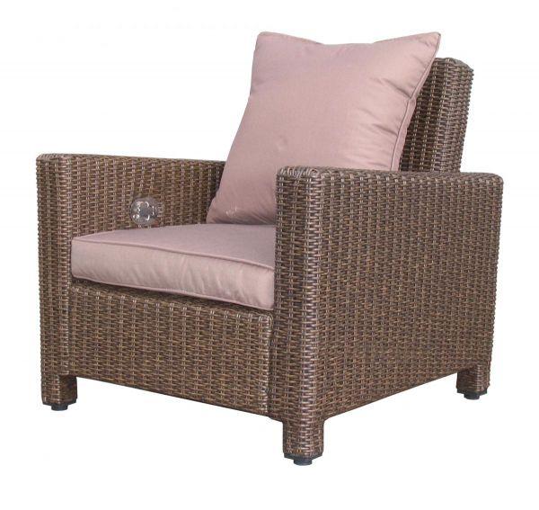 Bon Grasekamp Rattan Lounge Loungesessel 86cm Sessel Sofa Relaxsessel  Schlafsessel Braun