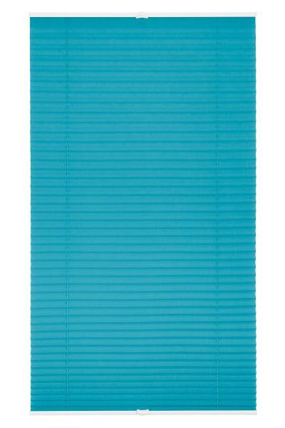 Lichtblick Plissee Klemmfix, ohne Bohren, verspannt - Blau, 60 cm x 130 cm (B x L)