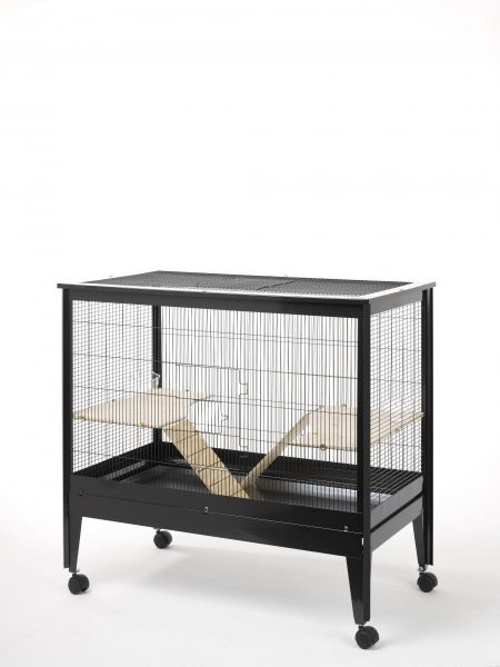 Rohrschneider Nagerkäfig Palma schwarz