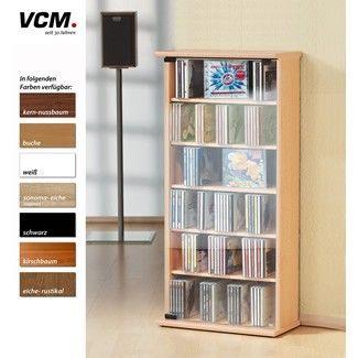 VCM CD/DVD Regal Vetro - weiß