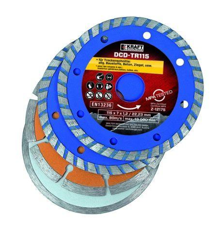 Kraft Werkzeuge Diamant-Trennscheiben-Set - 4tlg.
