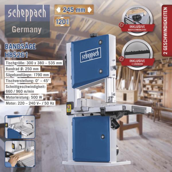 DETAIL Scheppach Bandsäge HBS261