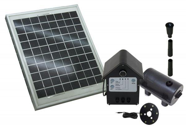 T.I.P Solar-Schwimminsel / Solar-Teichpumpen-Sets SPS 800/12 (Solarset 12 V)