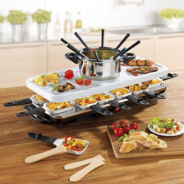 GOURMETmaxx Raclette- & Fondue-Set Keramik 38-tlg. | Küche und Esszimmer > Küchengeräte > Raclette | Keramik - Stein | DS Produkte GmbH