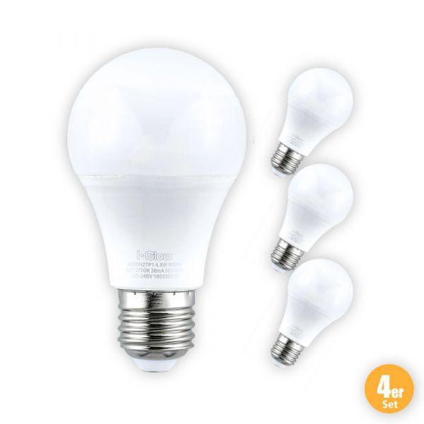 I-Glow LED-Leuchtmittel, Birne, 11 W, E27, Warmweiß - 4er Set