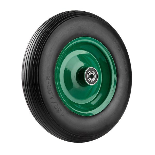 """Kraft Werkzeuge Schubkarrenrad """"pannensicher"""" - schwarz/dunkelgrün"""