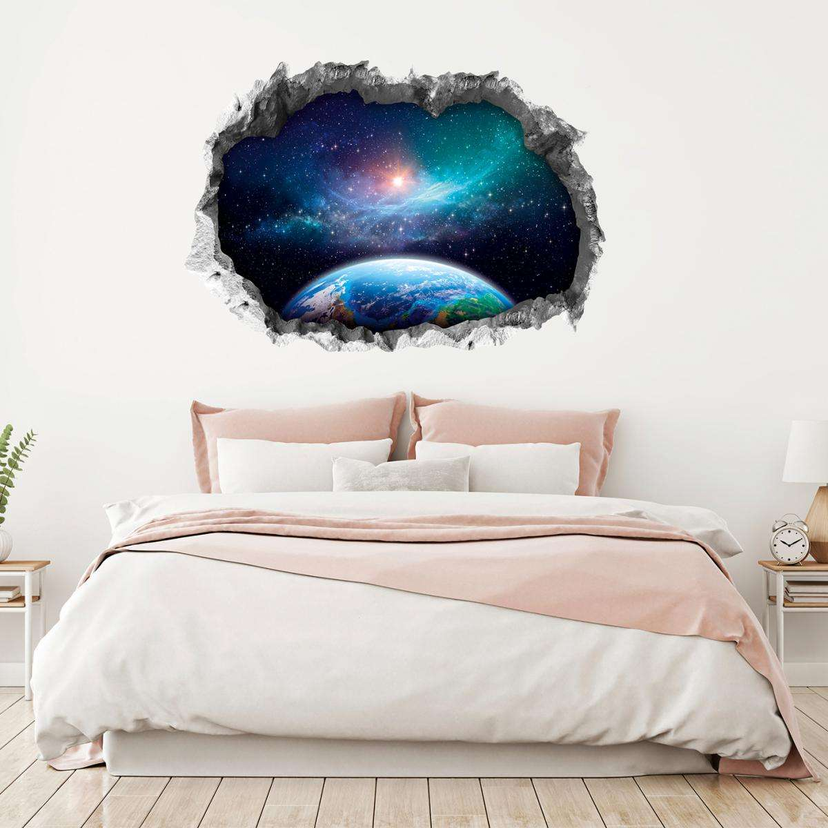 Easymaxx Wandtattoo 3D Galaxy mehrfarbig