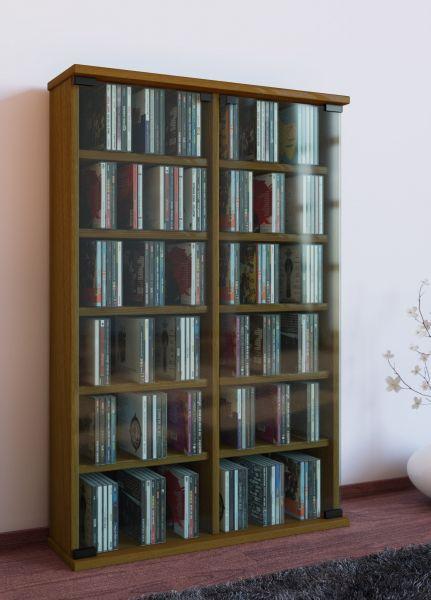 VCM CD/DVD-Turm Roma, Eiche-rustikal