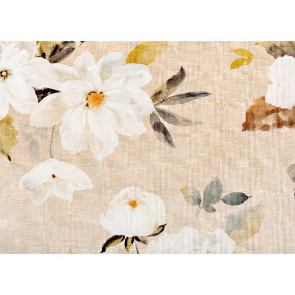 """BELLA CASA Wachstuch-Tischdecke """"Ecotex"""", ca. 100 x 140 cm, Blumen Beige/Braun"""
