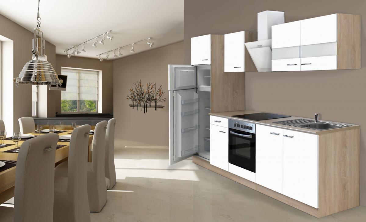Outdoorküche Mit Kühlschrank Xxl : Respekta economy küchenblock 270 cm weiß norma24