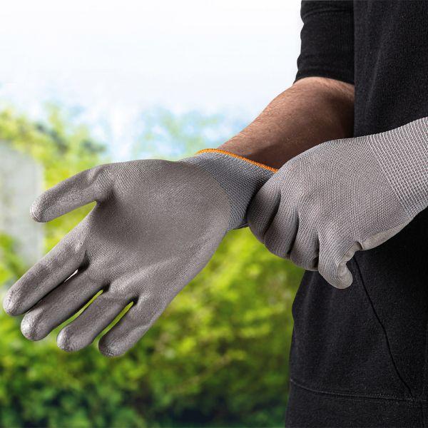 """Kraft Werkzeuge Arbeitshandschuhe """"M-Flex"""", Größe 7 - Grau"""