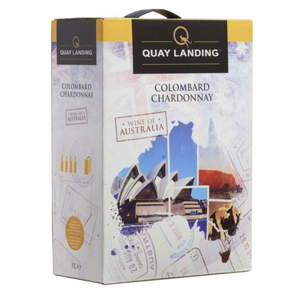 Quay Landing Colombard Chardonnay Bag in Box 3 Liter