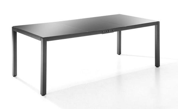 Chillroi Aluminium Gartentisch mit Glasplatte - Anthrazit