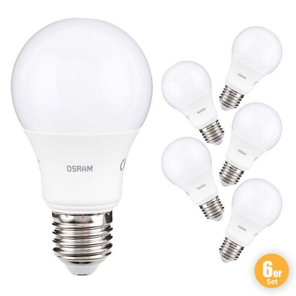 """Osram LED Leuchtmittel """"Birne"""", 8,5 W, E27 - 6er Set"""