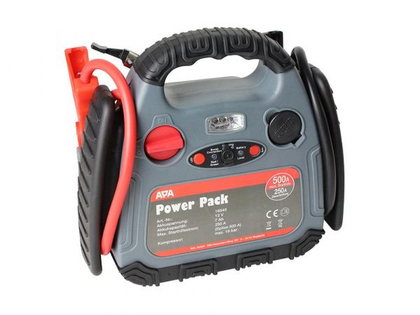 APA Powerpack m. Kompressor 18Bar,max 500A Starthilfe