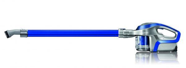 Cleanmaxx Akku-Zyklonstaubsauger 2 in 1, silber-blau