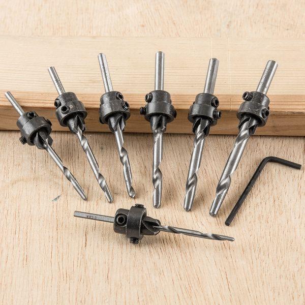Kraft Werkzeuge Holzbohrer mit Versenker-Set - 7tlg.