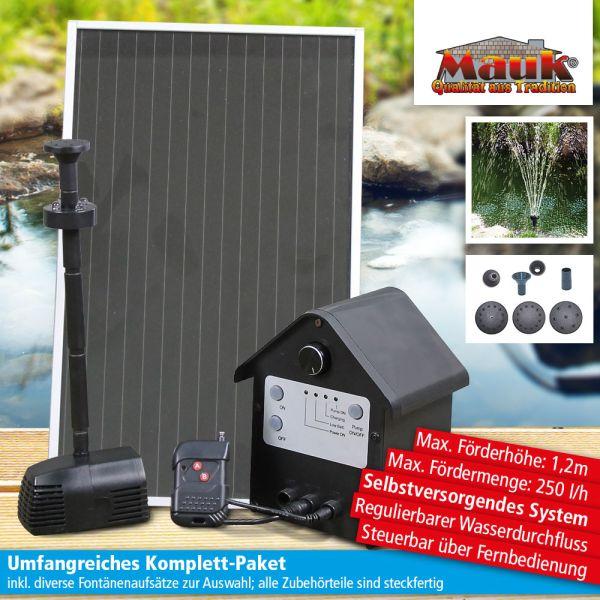 Mauk Solar-Springbrunnen-Pumpen-Set 2,4 W