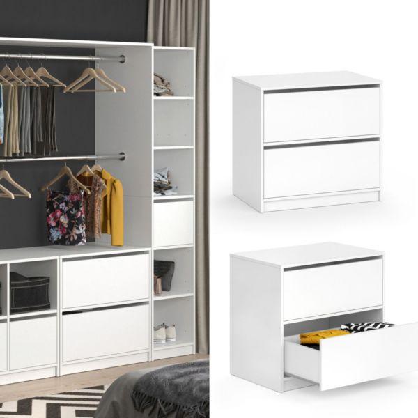 Vicco Schubladenset groß VISIT - zweiteilig Regal Schlafzimmer Umkleide Erweiterung