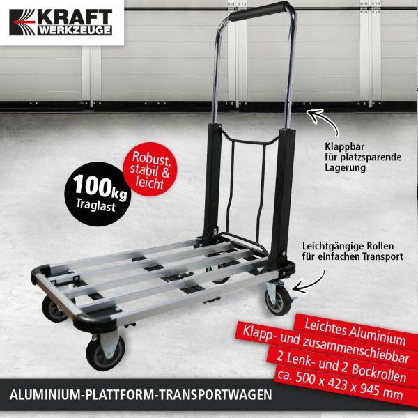 DETAIL Kraft Werkzeuge Plattform-Transportkarre