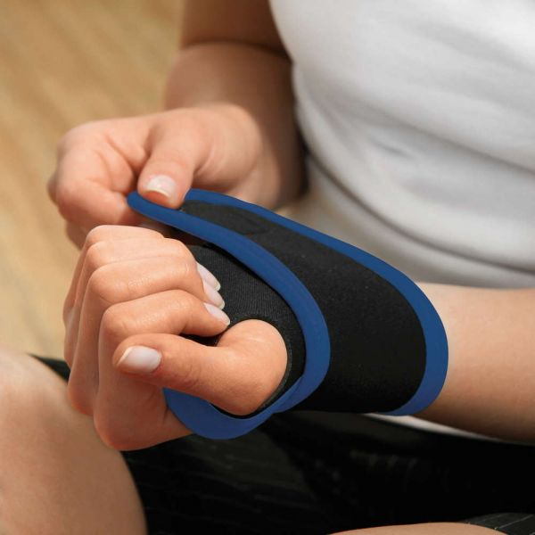Topfit Handgelenk-Sportbandage, Größe S/M - Blau/Schwarz