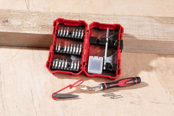 Kraft Werkzeuge Präzisions-Ratschen und Schraubendreher-Bit Set - 31tlg.