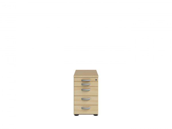 Wellemöbel Anstellcontainer Ahorn | Büro > Büroschränke > Container | Schwarz - Hell | Stahl - Ahorn - Nachbildung - Kirschbaum - Buche | Wellemöbel