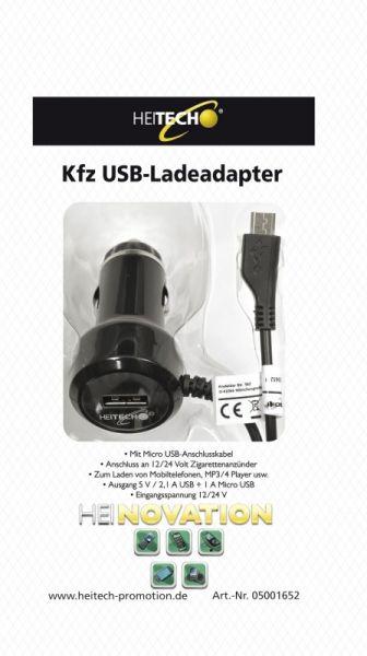 Heitech KFZ USB- Ladeadapter