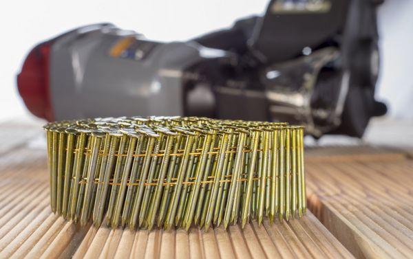 Mauk Munition für Druckluft Coil Nagler MCN55, smooth shank; Glattschaft, 2,1 x 38 mm, 350 Stk. Pro Gurt