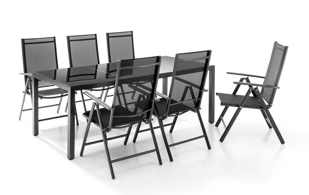 Chillroi Aluminium Gartentisch Mit Glasplatte Anthrazit Norma24