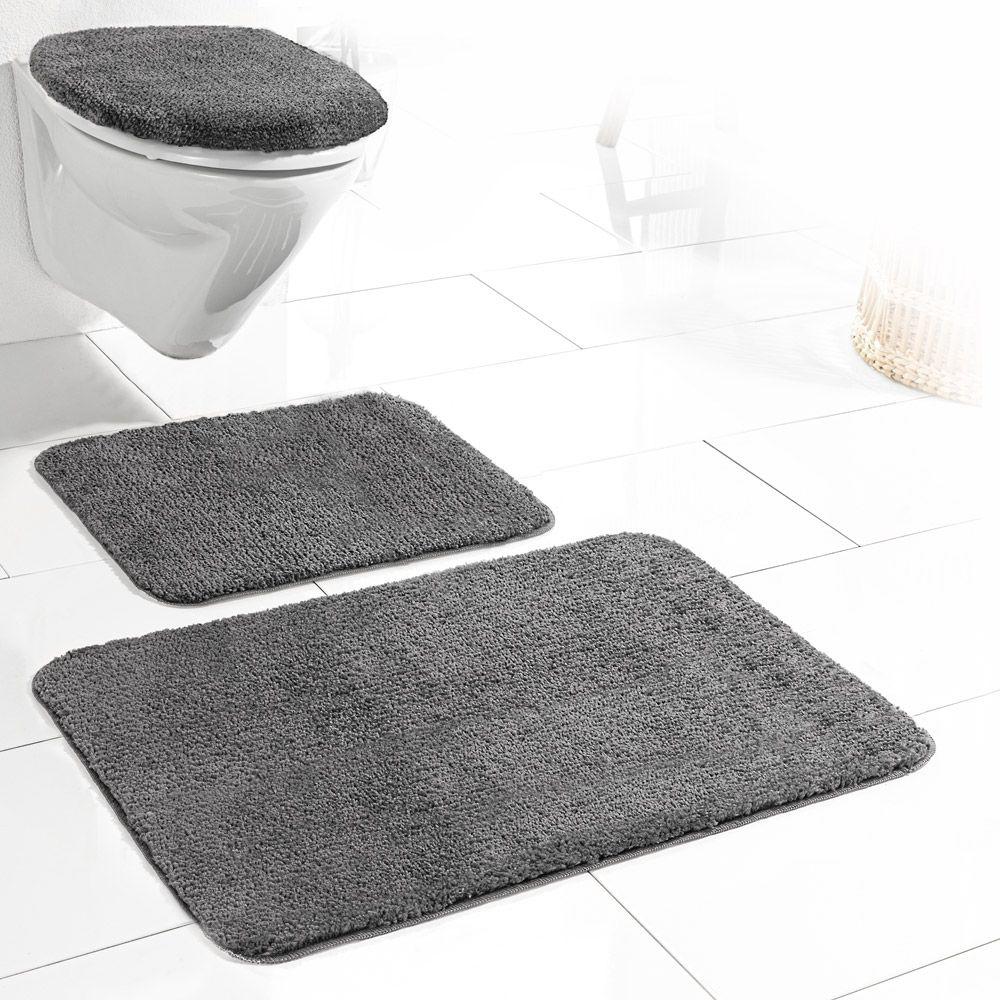 Sensino Badezimmer-Garnitur für Hänge-WC, 10-tlg. - Anthrazit