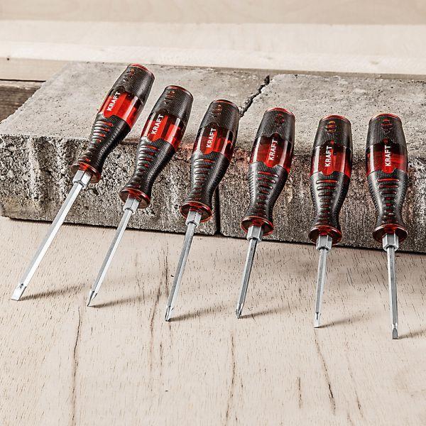 Kraft Werkzeuge Meißel-Schraubendreher - 6tlg.