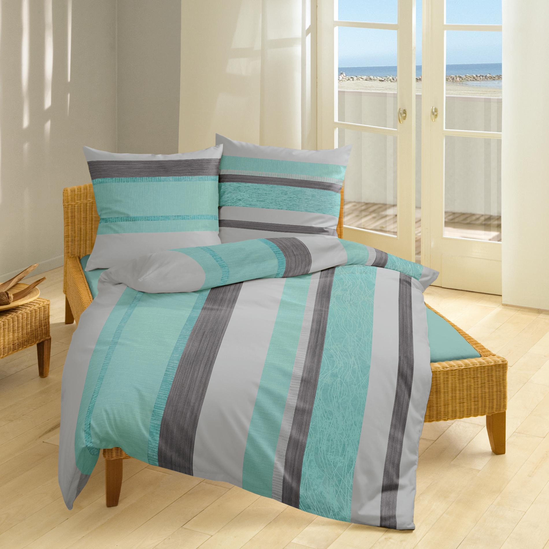 Dreamtex Thermo Fleece Bettwäsche 155 X 220 Cm Elegant Stripes