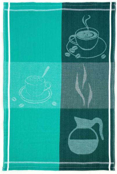 Casa Royale XXL-Baumwoll-Geschirrtücher, 5er-Set - Kaffee Smaragd