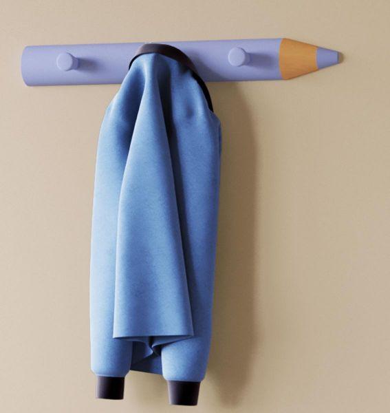 VCM Bleistift-Garderobe Stifto Blau   Bad > Bad-Accessoires > Haken   VCM
