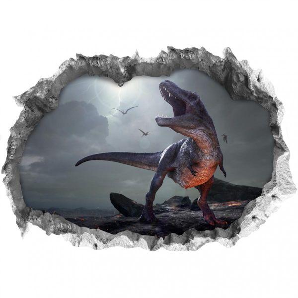 Easymaxx Wandtattoo 3D T-Rex mehrfarbig