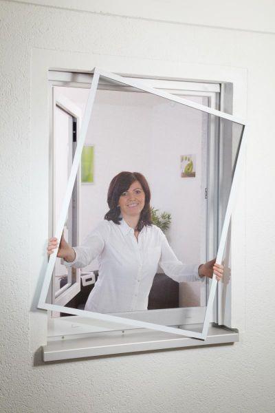 Hecht Fensterbausatz flächenbündig COMPACT 130x150 cm in Braun
