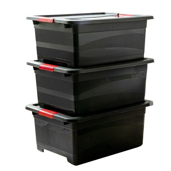 Toptex Ordnung Transportbehälter, Graphit - 3er-Set