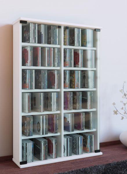 VCM CD/DVD-Turm Roma, weiß