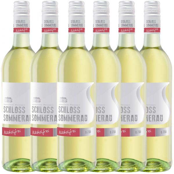 Schloss Sommerau alkoholfreier Weißwein 0,75l - 6er Karton