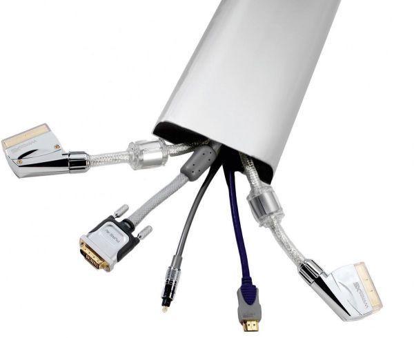 VCM - my media Kabelkanalsystem Lago 75 Silber