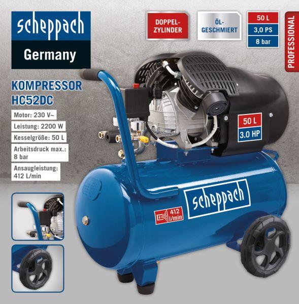 Scheppach Doppelzylinder- Kompressor HC52DC