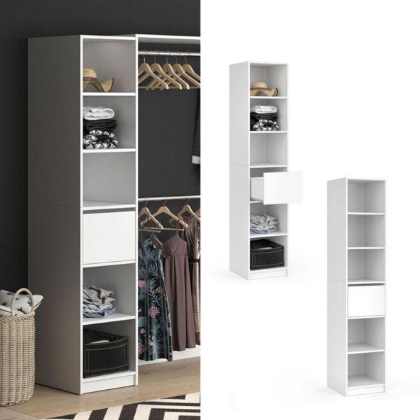 Vicco Kleiderschrank Visit Regal Umkleide Schrank Schlafzimmer Schublade Weiß