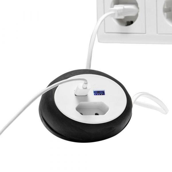 Powertec Electric Reiseadapter Schwarz
