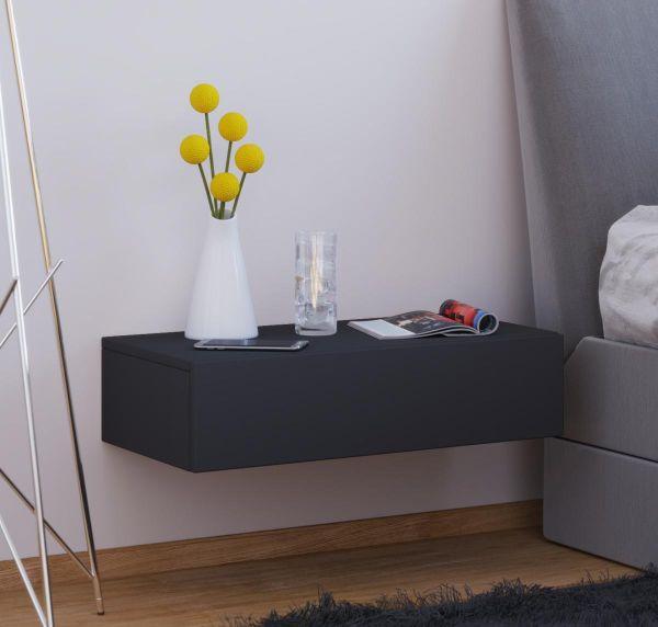 VCM Wandschublade Dormas Maxi Schwarz | Schlafzimmer > Nachttische | Nachbildung | VCM