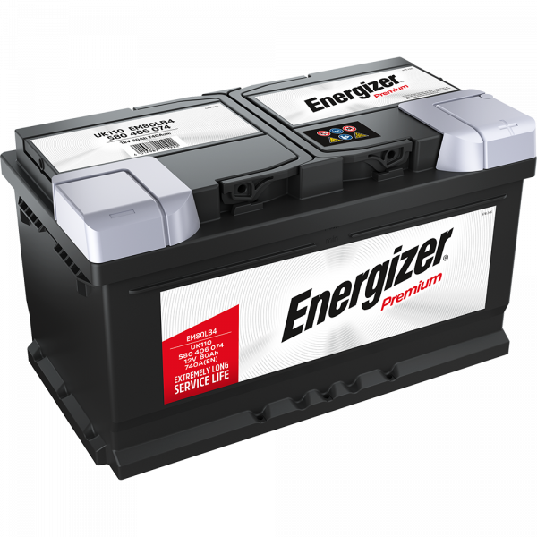 Energizer Premium-Starterbatterie 80 Ah