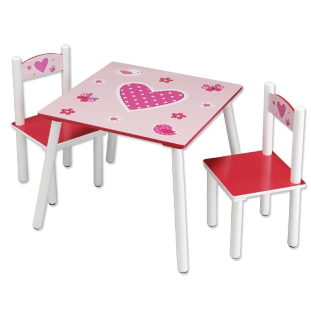 Kindertisch StühlenHerzen Kesper 2 Set Mit 3er L5A4Rj3